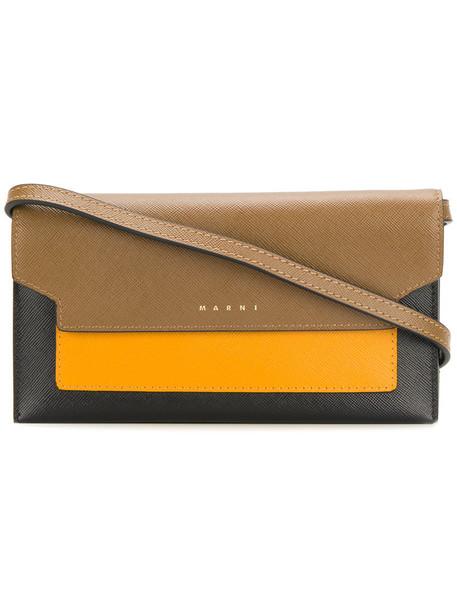 MARNI mini women bag crossbody bag leather brown