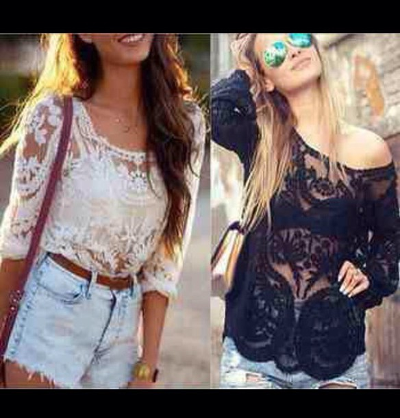shirt top lace style
