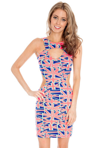 dress union jack st georges day flags cut-out mini