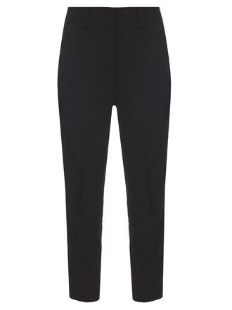 cropped silver black pants