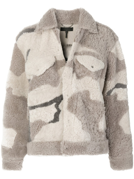 Rag & Bone /Jean jacket women camouflage nude print