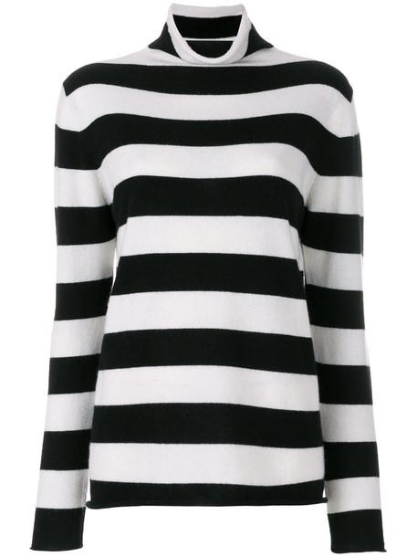Majestic Filatures - striped turtleneck jumper - women - Cashmere - IV, Black, Cashmere