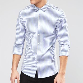 858f0284a1d865 Wholesale Blue and White Pinstripe Shirt Manufacturers in USA, UK