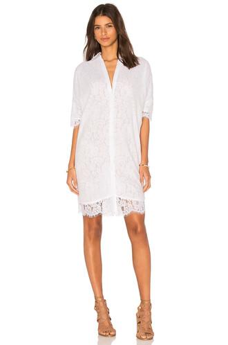 dress shirt dress lace white