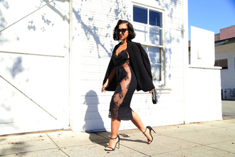 ktr style blogger lace dress black lace dress see through dress