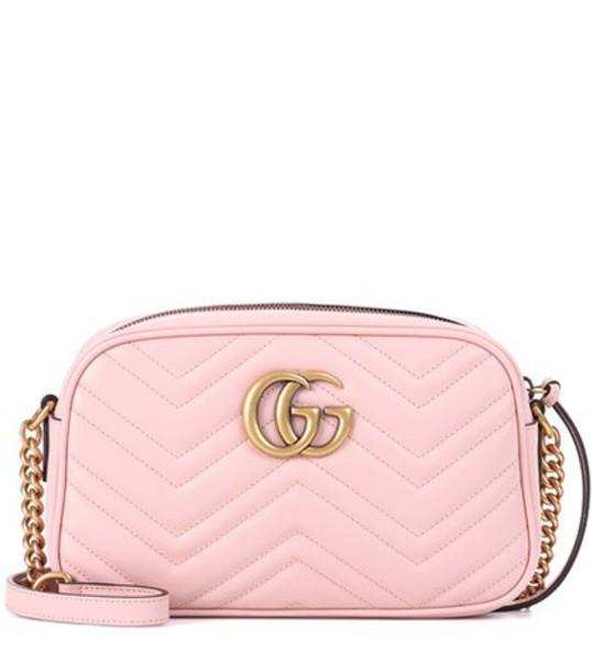 gucci bag crossbody bag leather pink