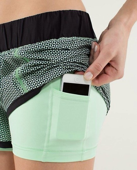 green short phone iphone shorts excercise sportswear