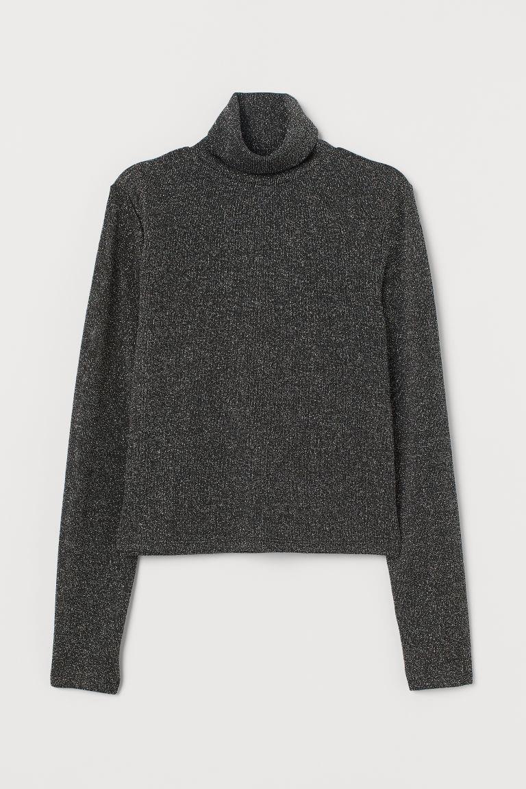 Glittery Turtleneck Sweater