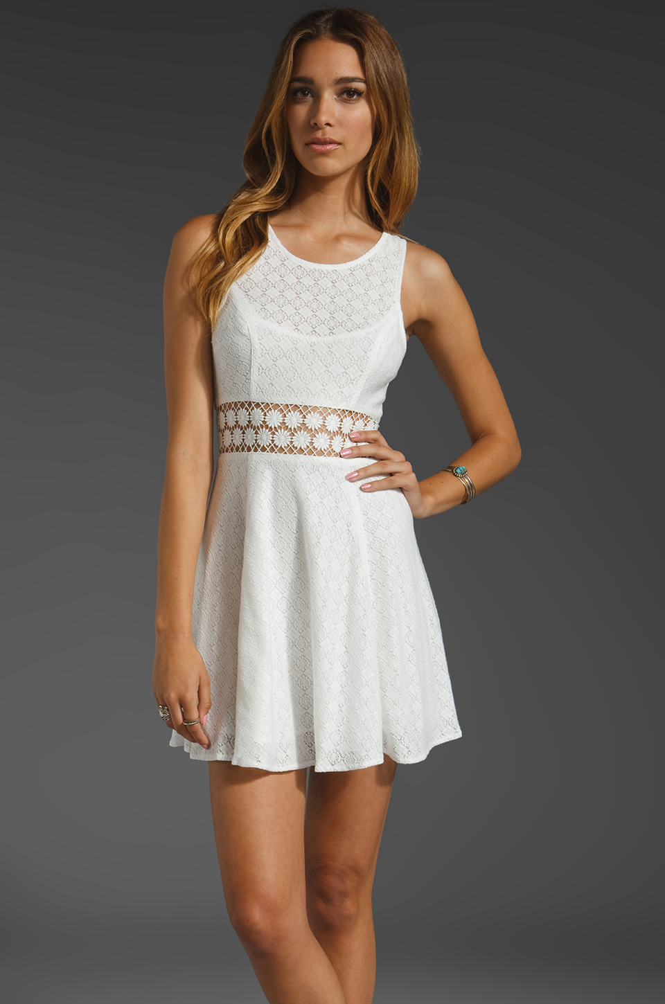 Free People Daisy Waist Dress in Ivory | REVOLVE