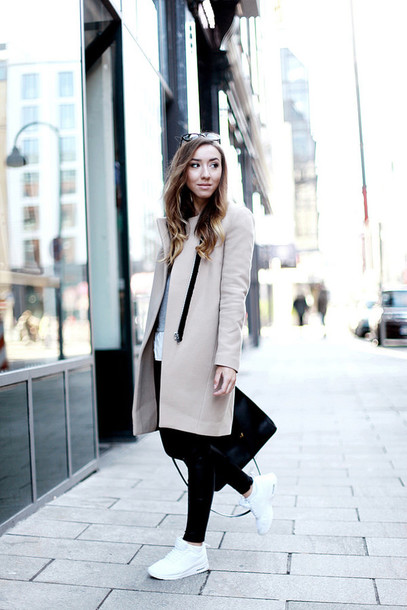 flirting with fashion blogger pants bag beige coat