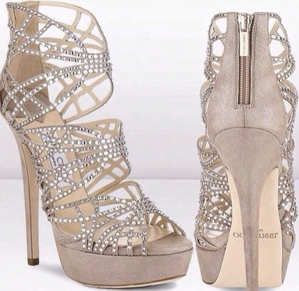 shoes jewels high heels