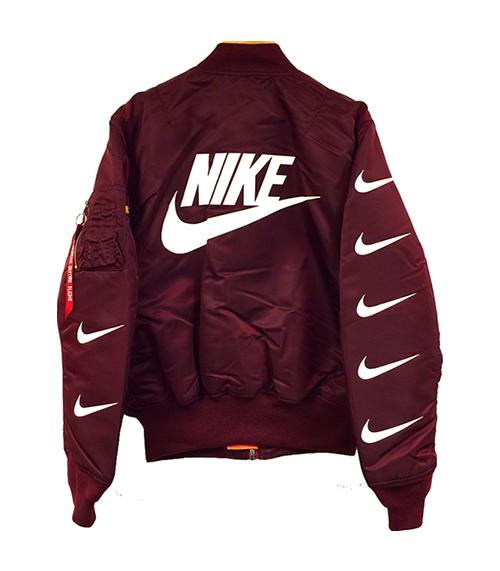 burgundy nike jacket womens
