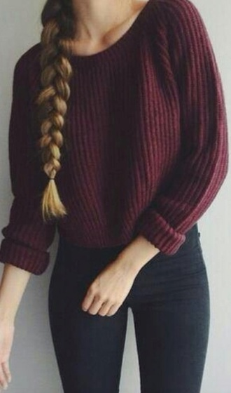 sweater knitwear knit dark ribbed cardigan oversized oversized sweater cute cute sweater sweat colorful burgundy knitted sweater dark red ribbed cardigan oversized cardigan cute outfits