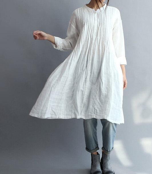shirt white gown
