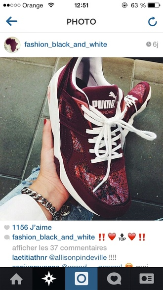 puma sneakers shoes red