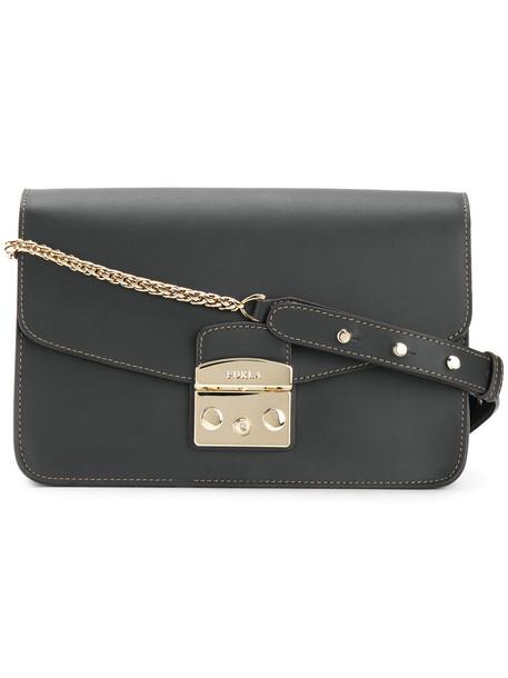 Furla women handbag leather black bag