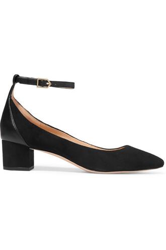 suede pumps pumps leather suede black shoes