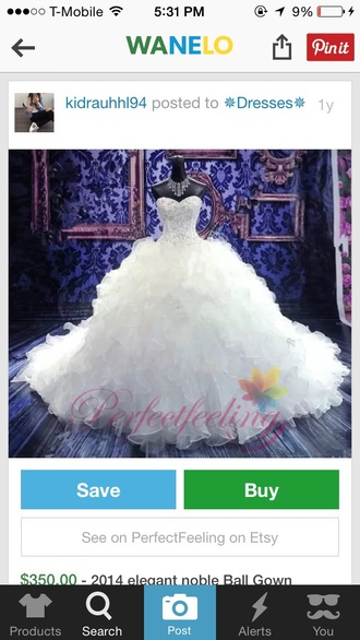 dress prom gown wedding rhinestones