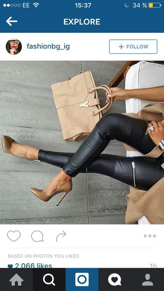shoes leather pants black green pointed shoes