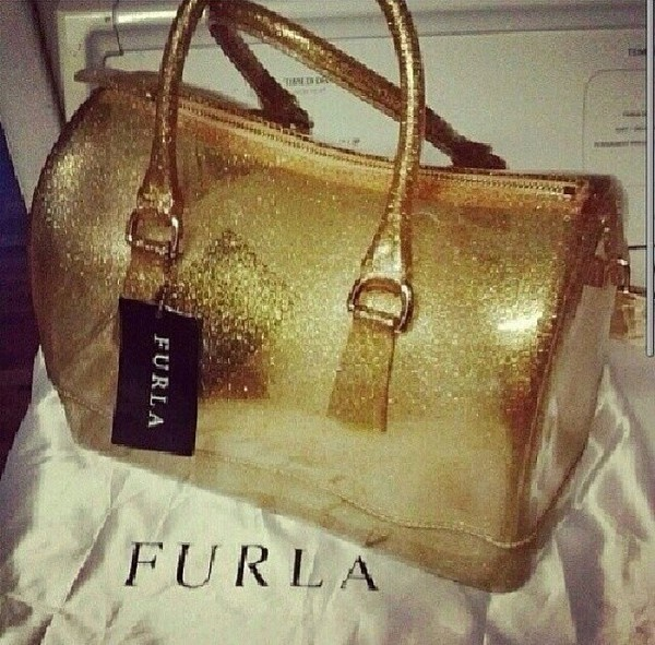 bag gold furla