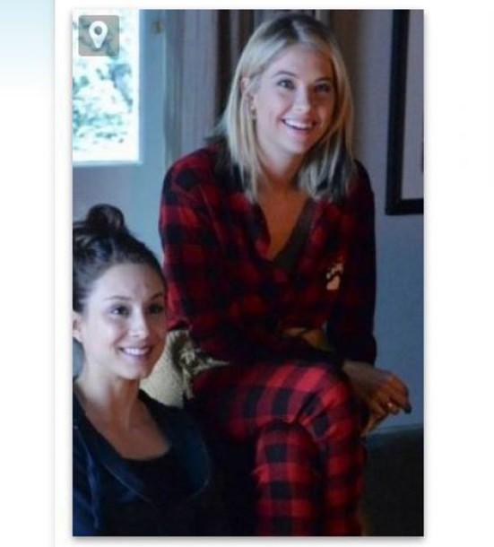 pajamas ashley benson pretty little liars hanna marin holiday season