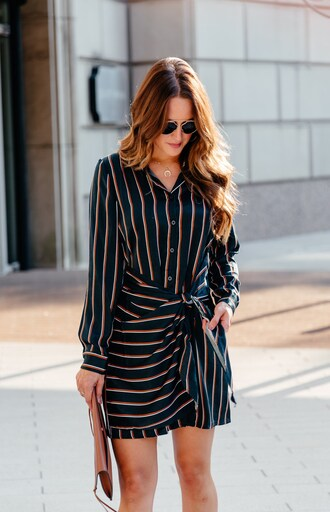 dress tumblr stripes striped dress long sleeves long sleeve dress shirt dress sunglasses