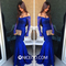 Niceoo dresses | sexy royal blue sheer neck floor length lace prom dresses with long sleeves