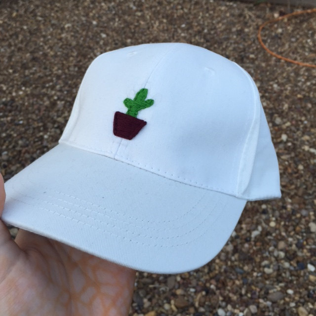 Cactus Hand Embroidered Baseball Cap