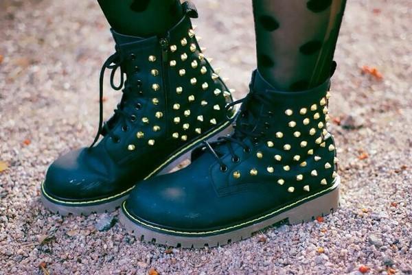 shoes combat boots grunge shoes