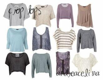 top singlet jumper t-shirt crop long sleeves