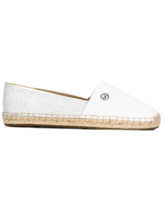 women braided espadrilles leather white shoes
