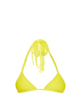 bikini bikini top triangle bikini triangle yellow swimwear