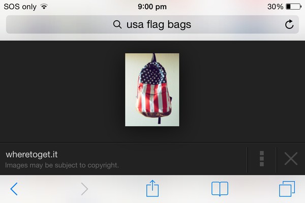 bag usa flag bag