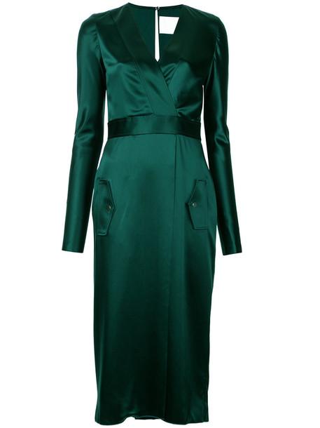 Dion Lee dress women silk green