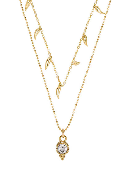 joolz by Martha Calvo Dream Beaded Necklace in gold / metallic