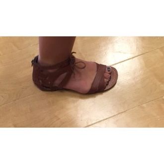 shoes brown leather sandals straps ties brown leather brown leather sandals