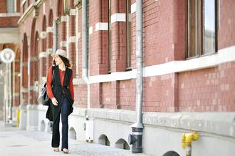 shiny sil blogger jacket blouse shoes pants bag hat