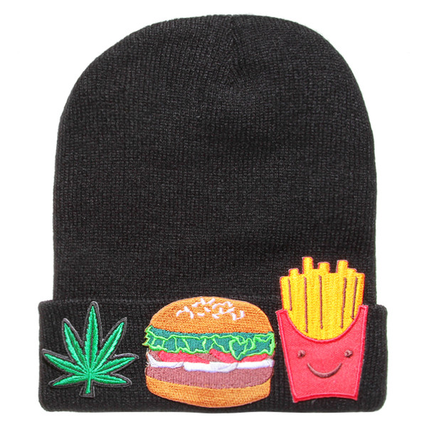 WEED BURGER FRIES BEANIE - Polyvore