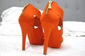 shoes,orange,high heels