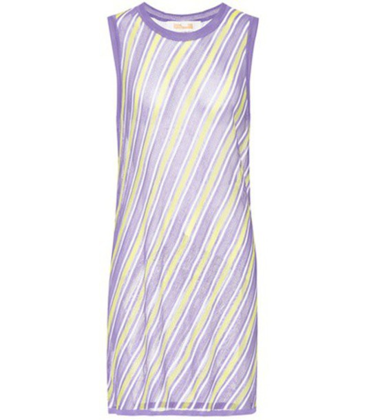 Diane von Furstenberg Sleeveless knitted dress in purple