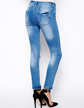 ASOS | ASOS Relaxed Skinny in Vintage Wash with Busted Knee at ASOS