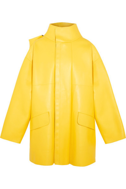 Balenciaga jacket leather jacket oversized leather yellow