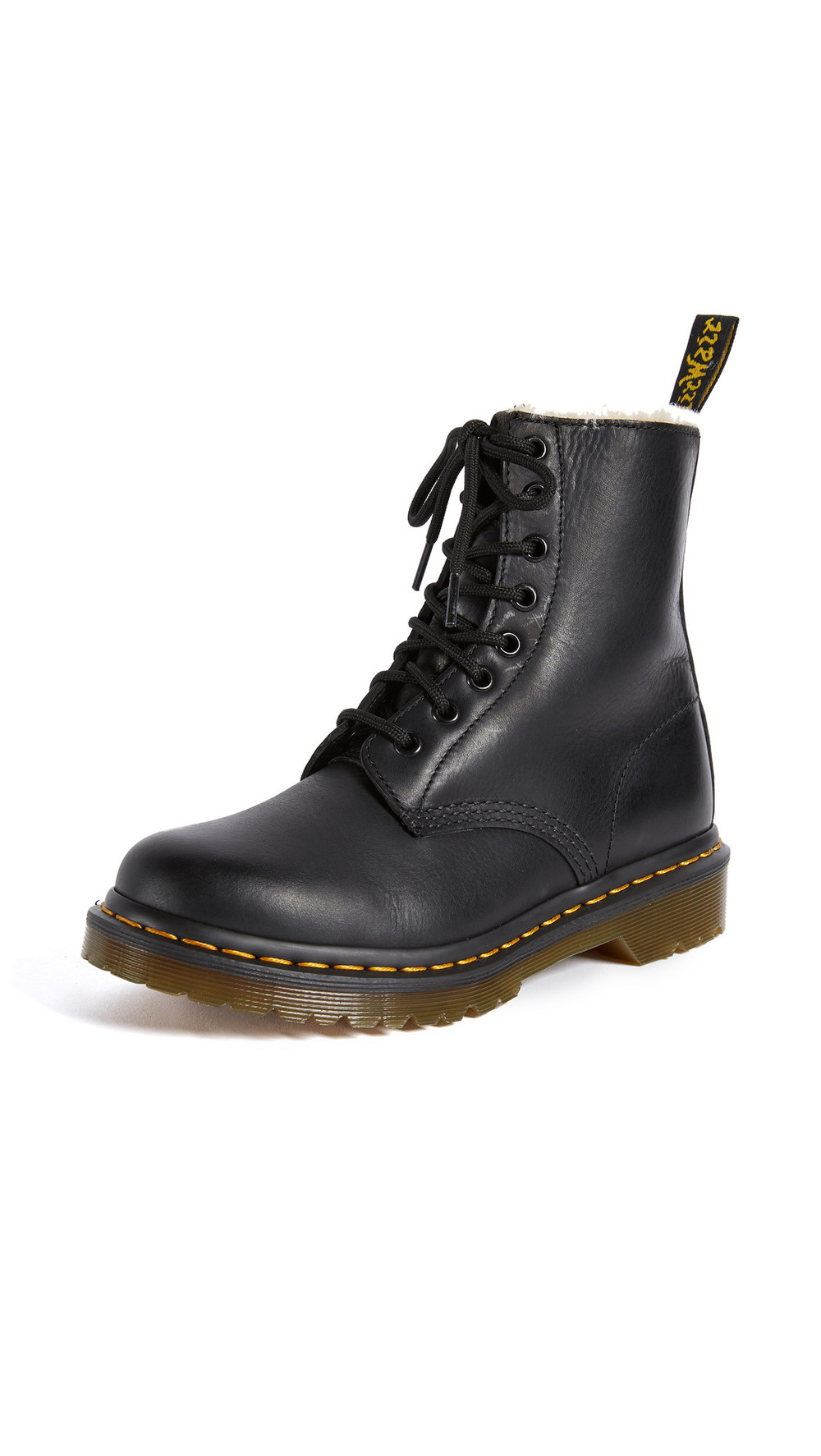 Dr. Martens 1460 Serena 8 Eye Sherpa Boots in black
