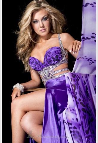 dress purple open sides