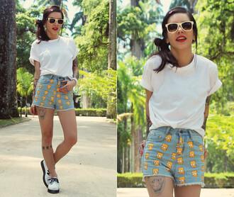 shorts it girl shop lookbook summer outfits bart simpson denim