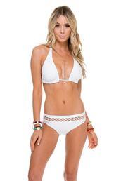 top,bikini top,luli fama,triangle,white,bikiniluxe