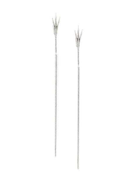 Wouters & Hendrix Gold long women earrings gold white grey metallic jewels
