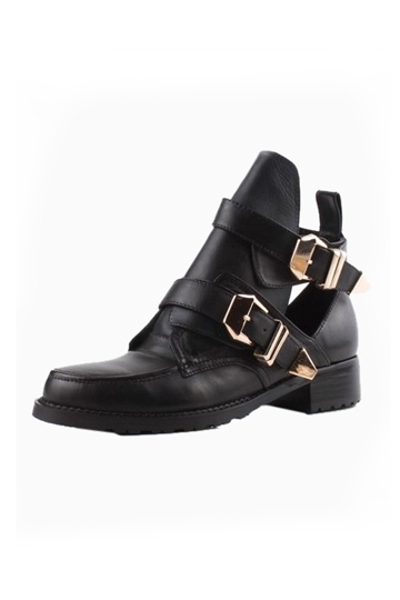 Chic Metal Buckle Cut Out Boots [HXM2002]- US$111.99 - PersunMall.com