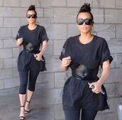 belt,black belt,waist belt,black,kim kardashian,kardashians