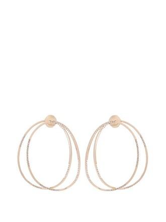 earrings gold earrings gold pink jewels